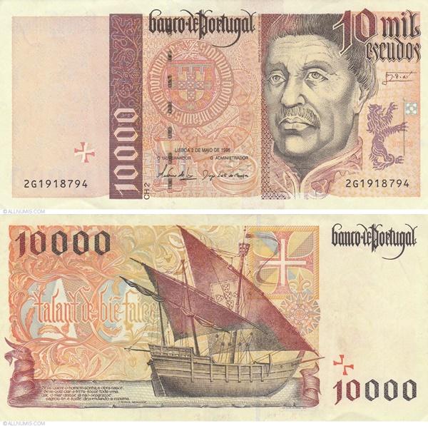 Emisiunea 1996-1998 - 10 000 Escudos