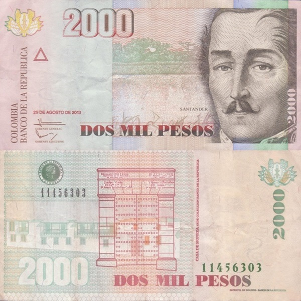 1996-2013 Issue - 2000 Pesos