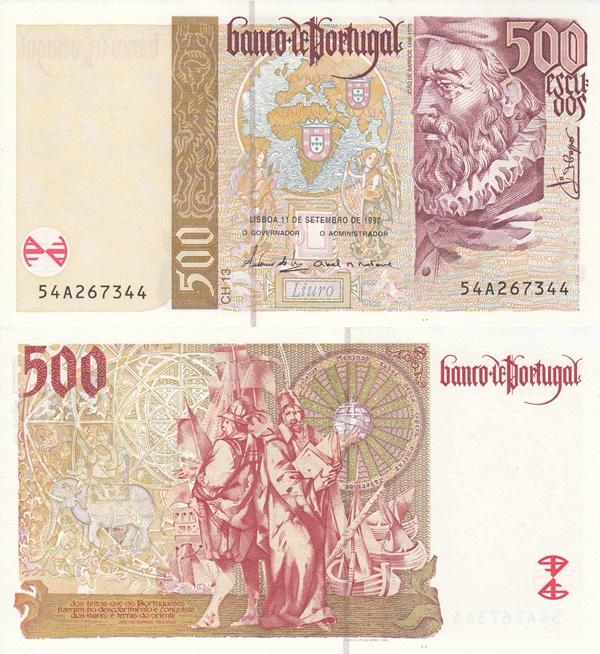 1997, 2000 Issue - 500 Escudos