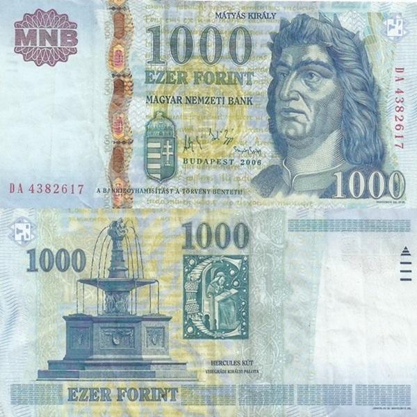 Emisiunea 1997-2015 - 1000 Forint