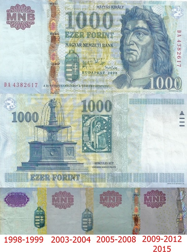 1997-2015 Issue - 1000 Forint