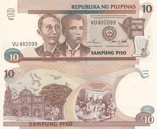 1997-2001 Issue - 10 Piso
