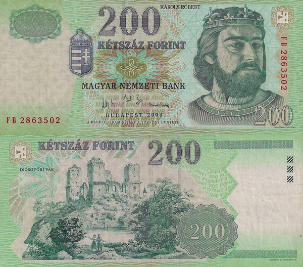 1998, 2001-2007 Issues - 200 Forint