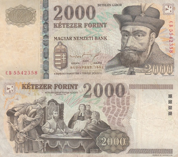 1998-2013 Issue - 2000 Forint