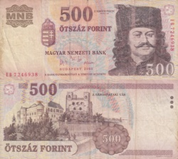 1998-2013 Issues - 500 Forint