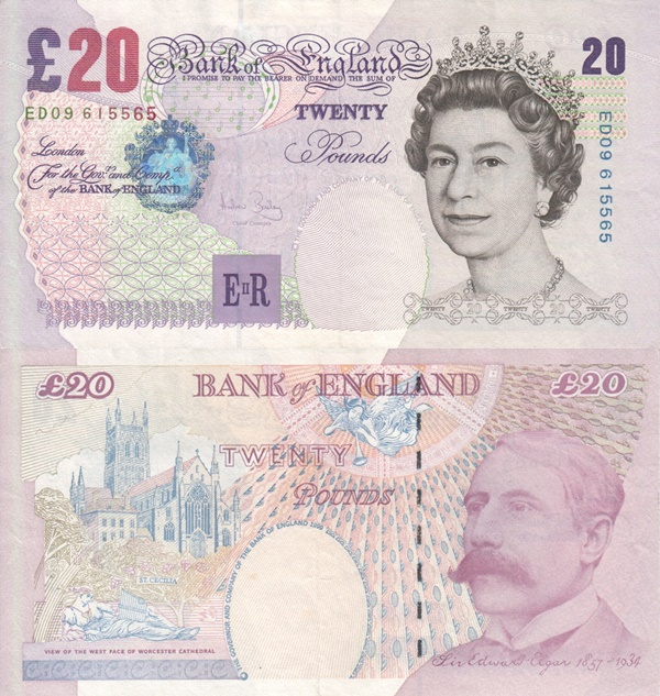 Emisiunea ©1999 (1999-2004) - 20 Pounds (Bank of England)