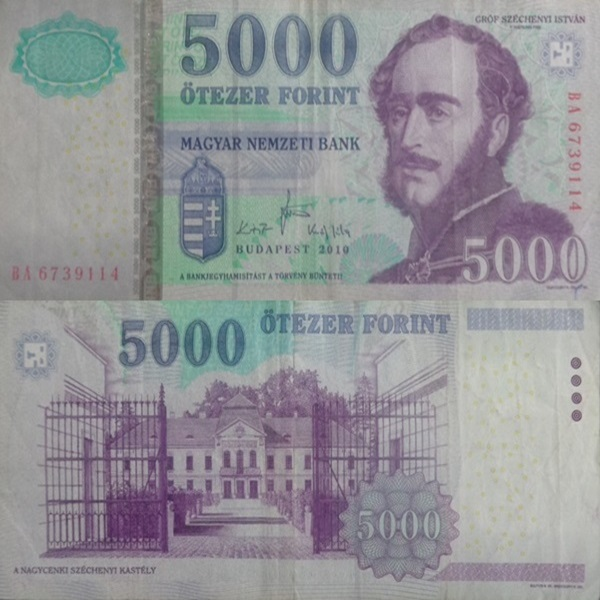 1999-2010 Issue - 5000 Forint