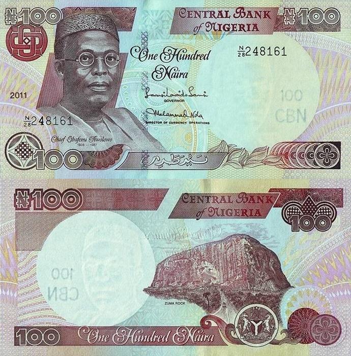Emisiunea 1999-2014 - 100 Naira