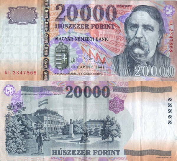 1999-2016 Issues - 20000 Forint