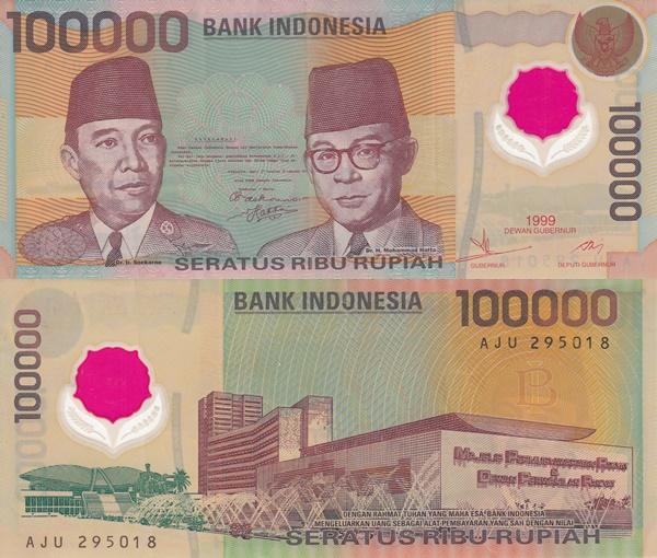 Emisiunea 1999 - 100 000 Rupiah