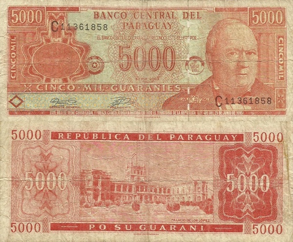 2000; 2003 Issue - 5000 Guaraníes