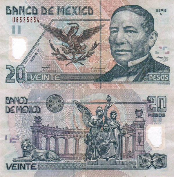 2001-2006 Issue - 20 Pesos