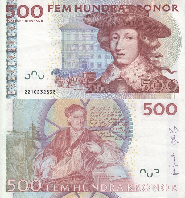2001-2012 Issue - 500 Kronor