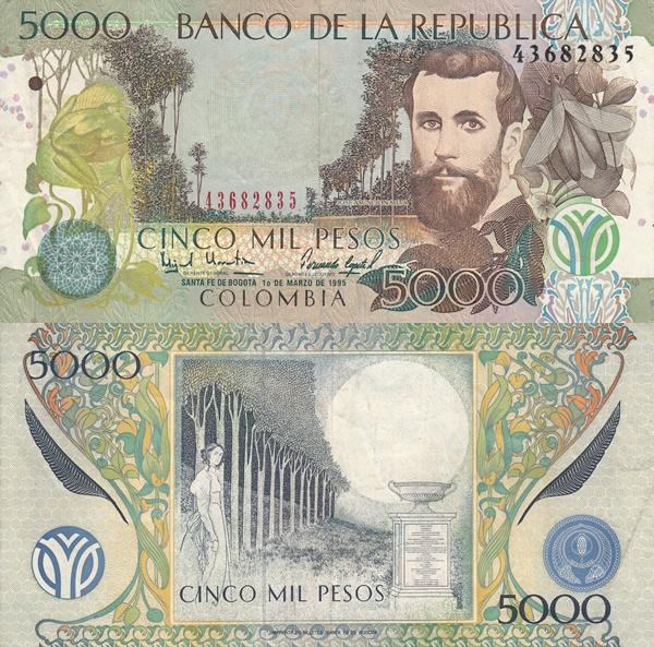 Emisiunea 2001-2013 - 5000 Pesos