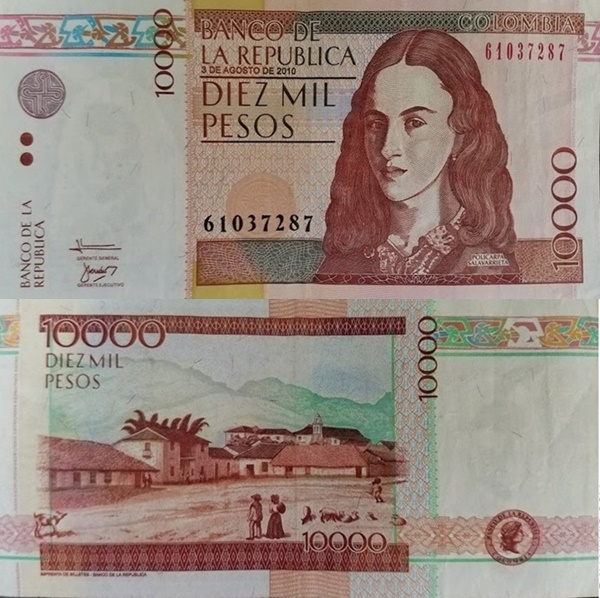 2001-2014 Issue - 10,000 Pesos
