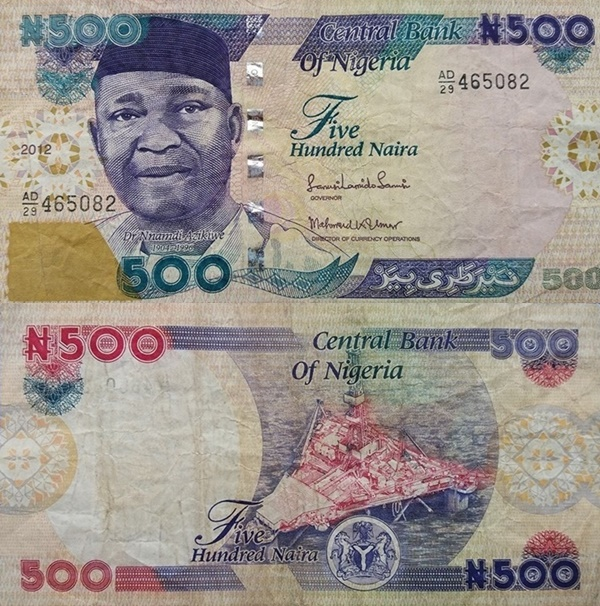 Emisiunea 2001-2015 - 500 Naira