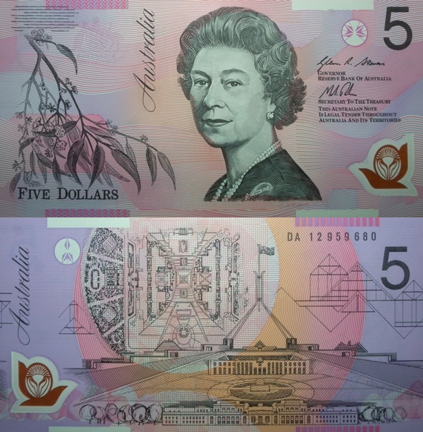 2002-2015 Issue - 5 Dollars