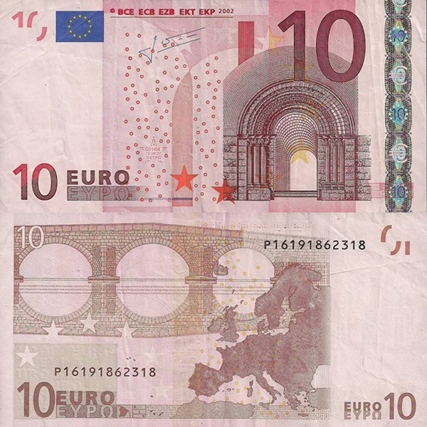 2002 Issue - 10 Euro (Signature  Jean-Claude Trichet)