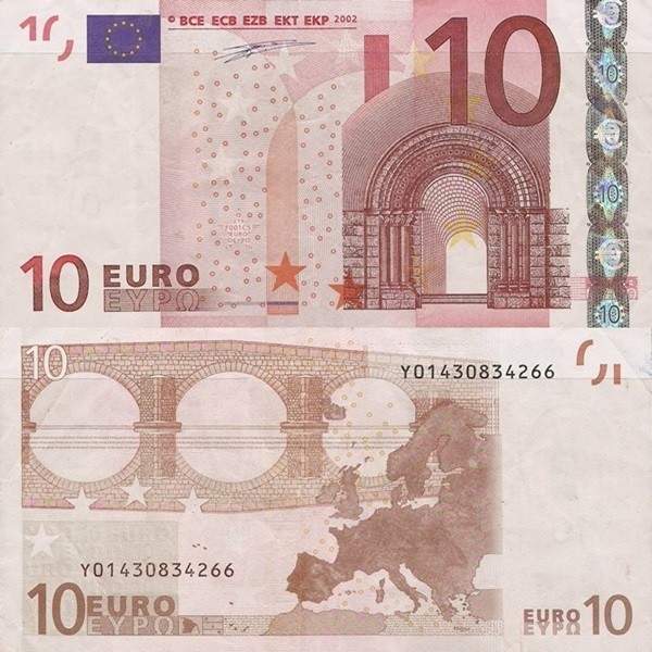 2002 Issue - 10 Euro (Signature  Willem F. Duisenberg)