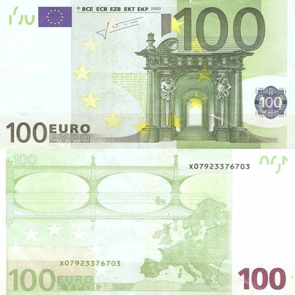 2002 Issue - 100 Euro (Signature  Jean-Claude Trichet)