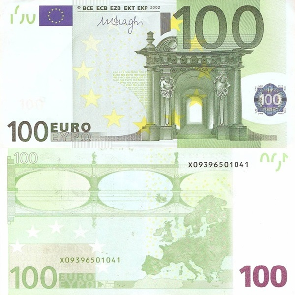 2002 Issue - 100 Euro (Signature Mario Draghi)