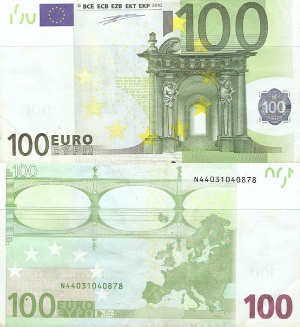 2002 Issue - 100 Euro (Signature  Willem F. Duisenberg)