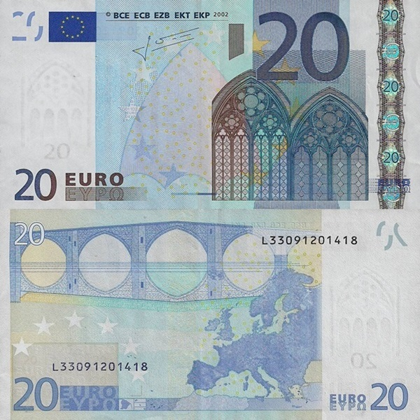 2002 Issue - 20 Euro (Signature  Jean-Claude Trichet)