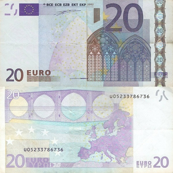 2002 Issue - 20 Euro (Signature  Willem F. Duisenberg)