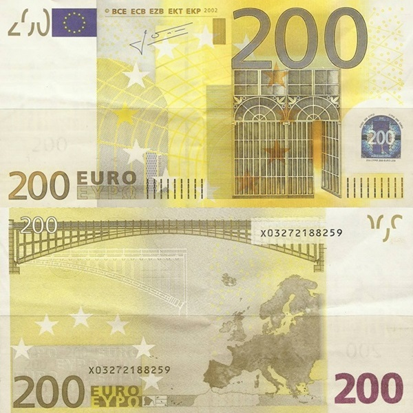 2002 Issue - 200 Euro (Signature  Jean-Claude Trichet)