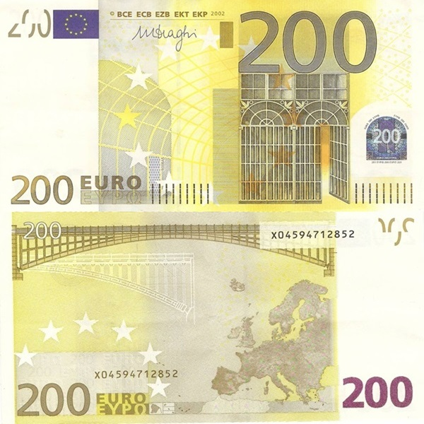 2002 Issue - 200 Euro (Signature Mario Draghi)