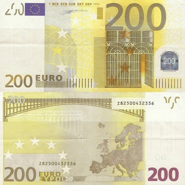 2002 Issue - 200 Euro (Signature  Willem F. Duisenberg)