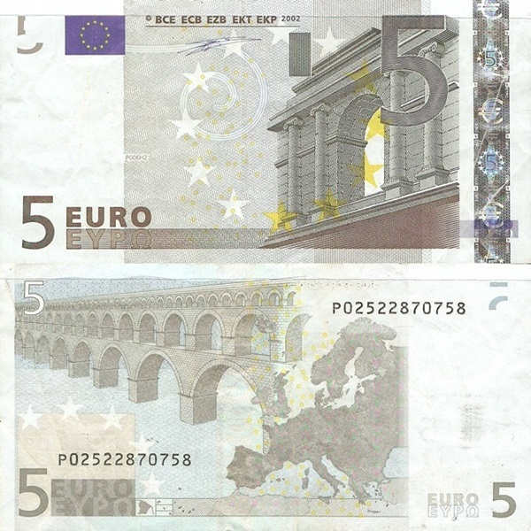 2002 Issue - 5 Euro (Signature Willem F. Duisenberg))
