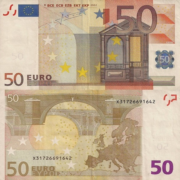 2002 Issue - 50 Euro (Signature  Jean-Claude Trichet)