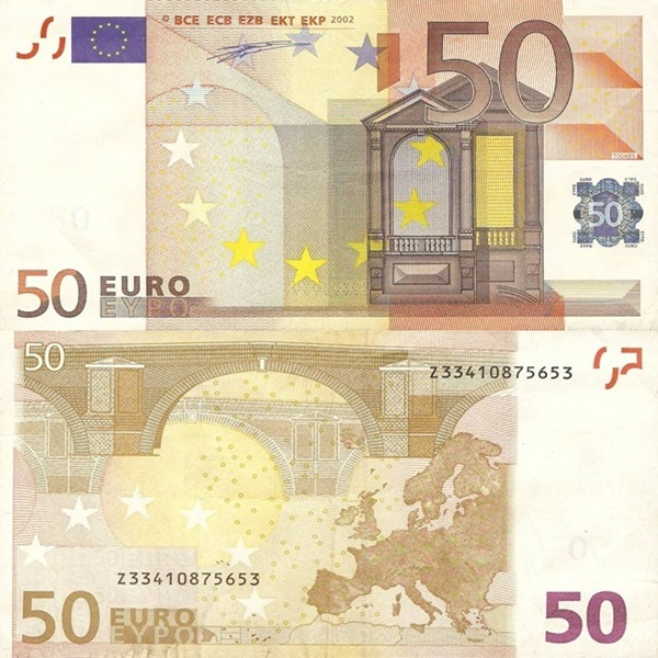 2002 Issue - 50 Euro (Signature  Willem F. Duisenberg)