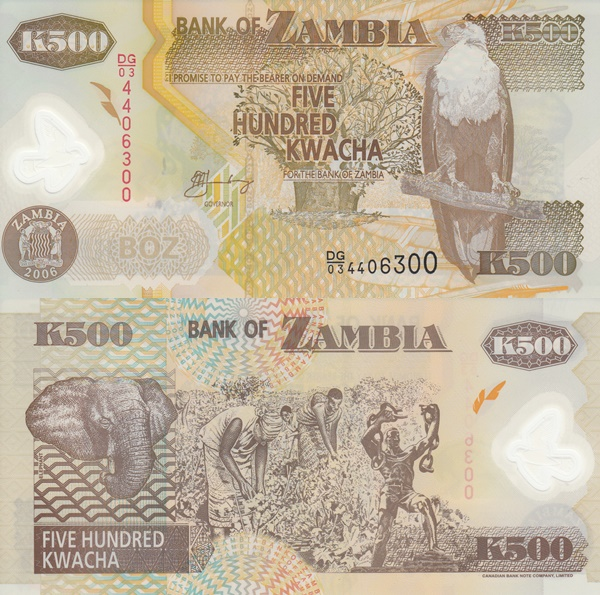 Emisiunea 2003-2011 - 500 Kwacha