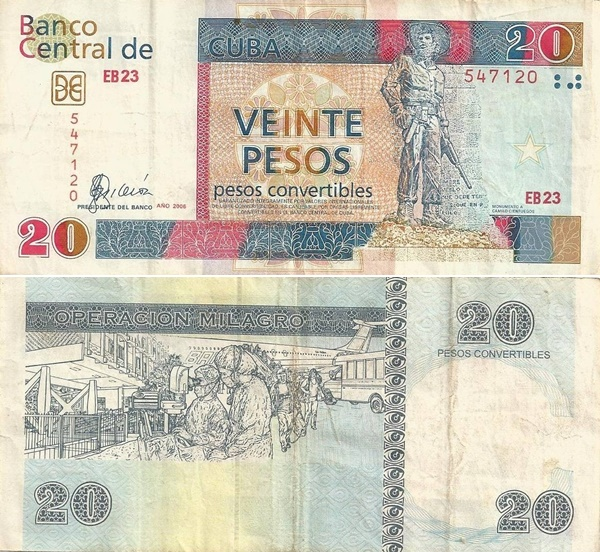 2006; 2008 Issue - 20 Pesos convertibiles