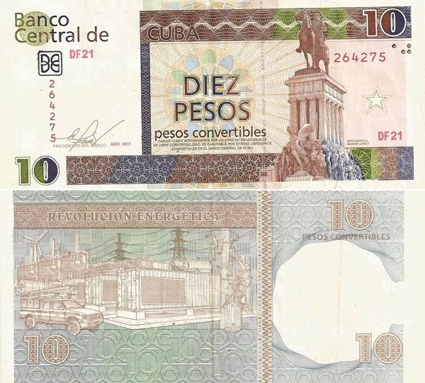 2006-2012 Issue - 10 Pesos Convertibles