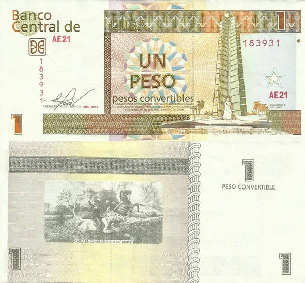 2006-2017 Issue - 1 Peso Convertible
