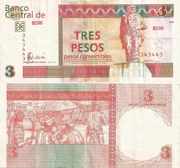 2006-2016 Issue -3 Pesos convertibiles