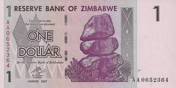 Emisiunile 2007-2008, al 3-lea dolar (ZWR)