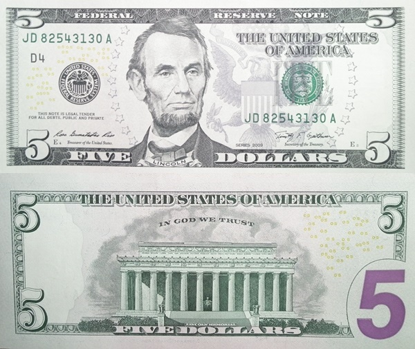 2009 Issue - 5 Dollars