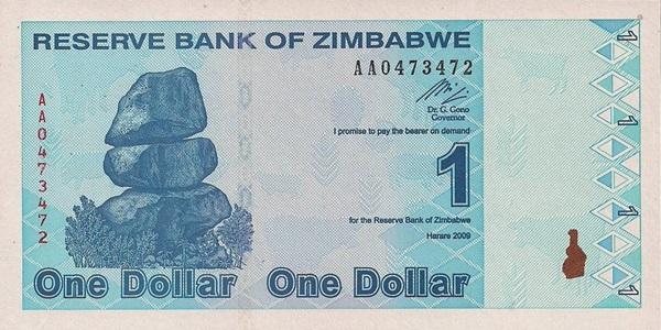 2009 Issue, Fourth Dollar (ZWL)