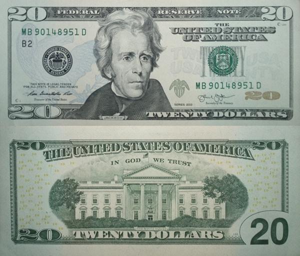 Emisiunea 2013 - 20 Dolari