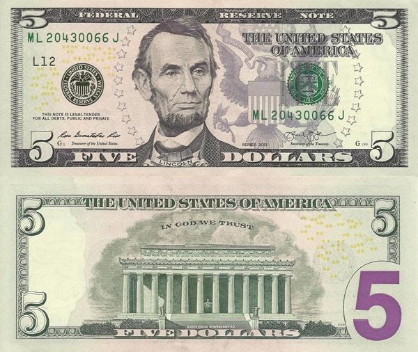 Emisiunea 2013 - 5 Dolari