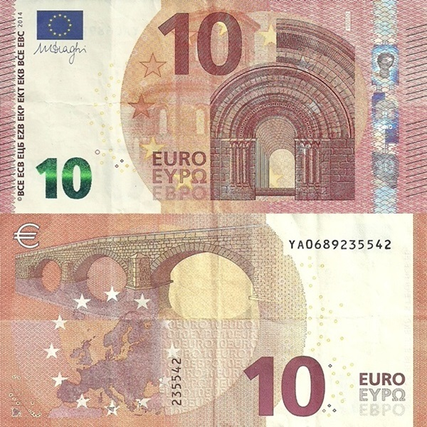 2014 Issue - 10 Euro (Signature Mario Draghi)
