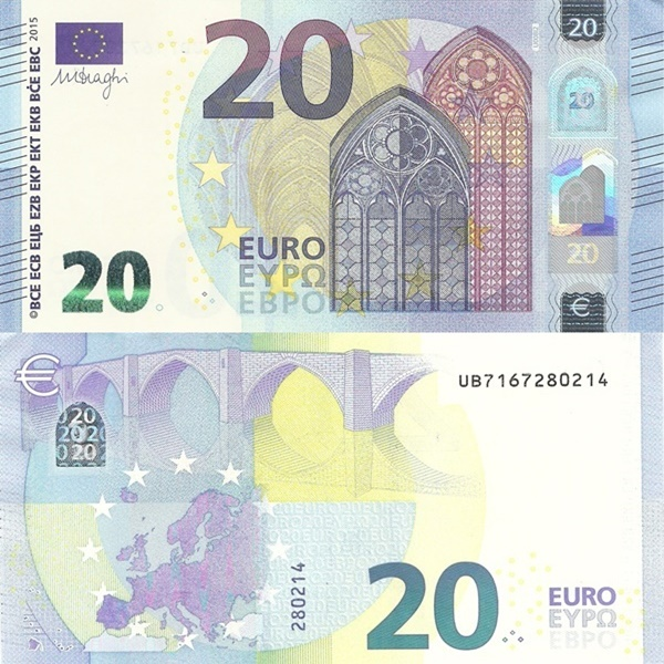 2015 Issue - 20 Euro (Signature Mario Draghi)