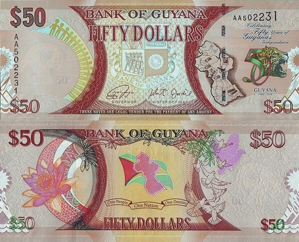 2016 Commemorative Issue - Fifty Years of Guyana's Independence (1966-2016)