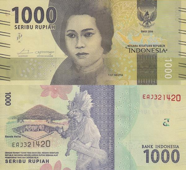 Emisiunea 2016- - 1000 Rupiah
