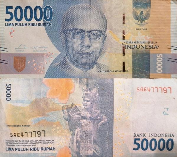 2016- Issue - 50,000 Rupiah