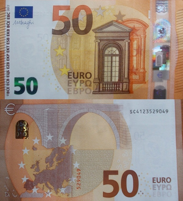 2017 Issue - 50 Euro (Signature Mario Draghi)